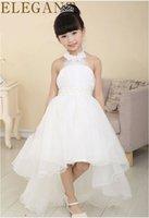 Wholesale Girl Princess Flower Girl Dresses For Wedding Patry Dance princess skirt trailing dress child sling skirt White Children s Clothing Y25297
