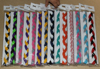 Wholesale piece Sports Braided Elastic Headbands for Girls Softball