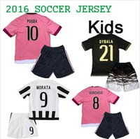 kids jerseys - Kids Juven Jersey POGBA CHIELLINI MARCHISIO Free Customized Juven tus Soccer Jerseys Youth Kits with Shorts High Quality TOPS