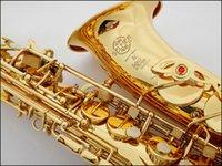 Wholesale French Selmer E flat alto saxophone musical instrument electrophoresis gold