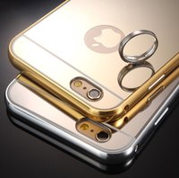 aluminum luxury goods - iPhone S Plus Aluminum Mirror Cases Luxury Ultra thin Mirror Metal Case Cover for Apple iPhone Plus Good Quality