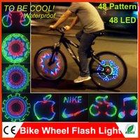 Wheel Lights used tires - 48 Patterns LED Bicycle Bike Tire Wheel Flash Light Flashing Auto Change Kaleidoscope Pattern LED Used for kinds of Bicycle