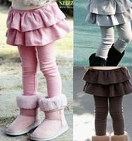 baby cakes trousers - New Spring Autumn Girls Leggings Thin Children Skirt Pants Girls Skirt pants Cake Skirt Kids Baby Pantskirt Leggings Baby Trousers Pants
