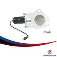 stainless steel Exhaust System - PQY STORE inch Universal Exhaust Cutout Billet Butterfly valve High Motor Brand New quot PQY CTS25
