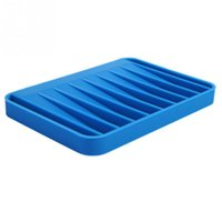 Wholesale Fashion Silicon Kitchen Bathroom Flexible Soap Case Dish Plate Holder Tray Soapbox Colors order lt no track