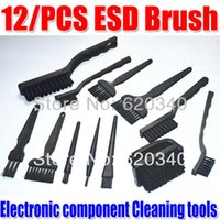 Wholesale set BGA rework Anti static Brush PCB Cleaning Tool ESD brush Electronic component Cleaning tools good High quality order lt no trac