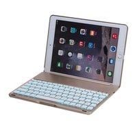 Wholesale Aluminum Metal Bluetooth Wireless Keyboard For iPad air iPad Air With colorful Backlit and Sleep wake up function High Quality Durable