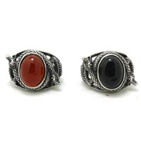 Cheap Black Stone Mens Ring Best Red Stone Ring