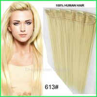 clip in one piece extensions - One Piece Clip in Human Hair Extensions Platinum Blonde Top up Brazilian Remy Clip on Hair Weaves Instant Clip in Hair Straight