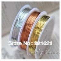 brass wire - M Roll Roll Mixed Color Copper Wires Beading Wire DIY Jewelry Findings Brass Ropes Cords D0359
