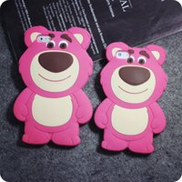 bear silicone case - 3D Strawberry Bear Soft Silicone Rubber Case For iPhone S Plus MOTO G G2 G3 LG G Pro Lite D680 G3 Stylus D690 Samsung Galaxy G530 J1