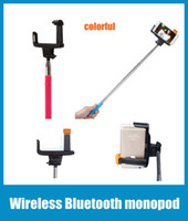 Wholesale Wireless Bluetooth Monopod Selfie Stick Tripod Handheld Monopod Z07 in For Mobile Phone Iphone Samsung IOS Android Smart Phone OTH006
