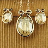 aries females - Italina Regent genuine crystal earrings Korean retro fashion female Aries Necklace Set