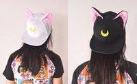 artemis cosplay - Japan New Sailor Moon Accessories Luna Artemis Cat Ears Hat Baseball Cap Cosplay for party