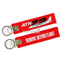 aviation jewelry - Fashion Jewelry Key Chains ATR72 Backactor Keychain Red Key Chain with Cartoon Air Plane Creative Good Gift for Aviation Lover Flight Crew