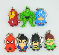 toy for man - 200pcs New arrive Superman Batman Spider Man cartoon anime boy Keychain sided soft toys for kids D209