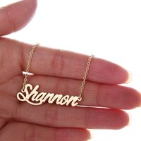 Wholesale Fashion ladies jewelry Personalized Name Necklace Tag quot Shannon quot Stainless Steel Gold and Silver Customized Name Necklace NL