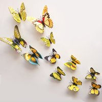 home decoration - dimensional butterfly decoration home decorations wall stickers bedroom TV background wall