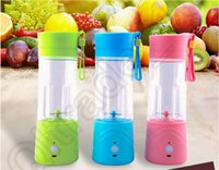 Wholesale 100PCS HHA478 Electric Juice Cup Lemon cup Mini Portable fruit vegetable Blender with USB charger Fresh fruit Carry cup Gifts water bottles