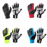 Wholesale Sahoo Full Finger Gloves Cycling Gloves cheap full finger winter warmer breathable Bicycle Racing Gloves yellow red blue black colors