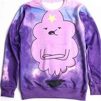 Cheap w1216 Alisister lovers 3d sweatshirts anime Adventure time cosplay sport pullovers unisex tops clothing men women Jersey Sweats hoodie