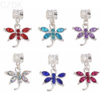 Wholesale PD82 Dragonfly charms bead High quality Fit European Style Charms Bracelets pandent