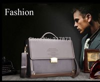 Wholesale Men s Briefcase Brown PU cm kg Handbag Shoulder Bags Business High capacity Successful man first choice days arrive