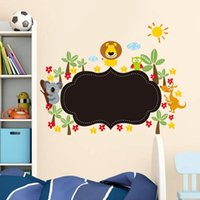 art lessons - animals have a lesson chalkboard stickers kids class room decoration s home decals nursery cartoon mural art pvc poster home decorat