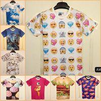 women crop tops - Harajuku New shirts for Women Men Clothing Funny Cartoon Emoji Print D T Shirt Punk O neck Short Sleeve Tee t shirt Crop Top t shirt