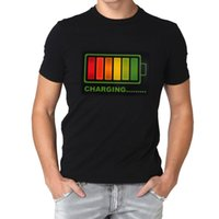 led shirt - Sound Activated Light EL LED Flashing Rock Disco Equalizer T Shirt For Party EGS_395