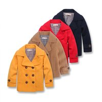 baby boy quilted jacket - Temperament Boys winter jacket double breasted boys woolen coat quilted thick boys clothing gentleman warm baby boy clothes Y