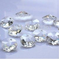 Wholesale 2000pcs Top Quality mm Crystal glass octagonal beads crystal lamp accessories Wedding Decoration