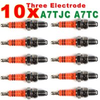 50cc atv - Spark Plug A7TC A7TJC Electrode GY6 cc cc Moped Scooter ATV Quads Hot Sale