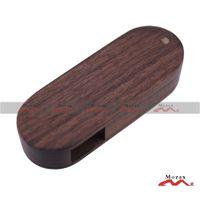 Wholesale 50PCS GB Factory Outlets Upscale Swivel Oval Wood Memory USB Stick Drive Flash Pendrive Provide Custom Logo