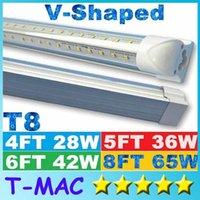 Wholesale V Shaped ft ft ft ft Cooler Door Led Tubes T8 Integrated Led Tubes Double Sides SMD2835 Led Fluorescent Lights AC V UL DLC
