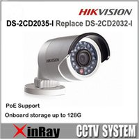 overseas - Newest Overseas Multi language Version Hikvision DS CD2035 I Replace DS CD2032 I MP Bullet Camera Full HD P POE Outdoor IP Camera