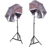 strobe light kit - Brand New Photo Studio Kit Light Stands Swivel Flash Strobe Bulb Holder and Silver Umbrella and SY8000 Studio Flash Bulb