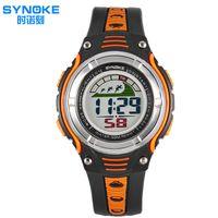 alloy steps - Digital Sport Watch Synoke Bracelet Step Counter Walking Jogging Heart Rate Watch Multifunction Electronic Watch Waterproof Watches Reloj
