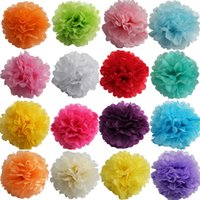Wholesale New Arrival cm inch Tissue Paper Pom Poms Flower Balls For Wedding Party Decorations Colorful Paper Flowers