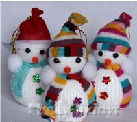 Wholesale Christmas decorations Christmas tree ornaments Christmas Snowman scarf small high end products