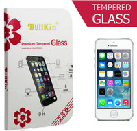 Wholesale For iphone S s plus samsung S3 S4 S5 Note3 Bullkin Premium tempered glass Screen Protectors Good Packaging d