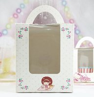 Wholesale Cupcake Boxes with handle quot flower printing quot