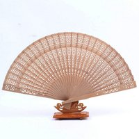 asian wedding favors - Asian Sandalwood hollow Fans Wedding Favors Business Commercial trade Event Laser cut marketing beautiful Promot gifts