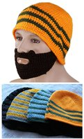 Wholesale New Arrivals Unisex Novelty Knitted Winter Face Warmer Beanie Moustache Mask Warm Caps Hat fx208