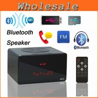 Cheap New Portable Touch Mini Bluetooth Speakers Remote Control NFC Wireless Smart Hands Free Speaker With FM Radio MP3 Player KR-7100