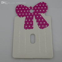 Wholesale pieces HOT Charm Bowknot Bow Hair Clip Hair Claws Hairgrips Hanging Card Display