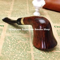 Cheap Wholesale smoke shop Handmade Briar Wooden Tobacco Pipe Weed Pipe Christmas gifts for him