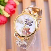 auto battery buy - Buy Women Flower Watch Geneva Alloy Quartz Female Wristwatch Luxury Brand Leather Watches Shop W