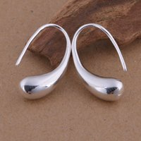 Wholesale Foreign trade jewelry plated sterling silver teardrop earrings ear hook Korean popular spot