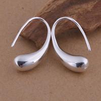 Wholesale Foreign trade jewelry plated sterling silver teardrop earrings ear hook Korean popular spot
